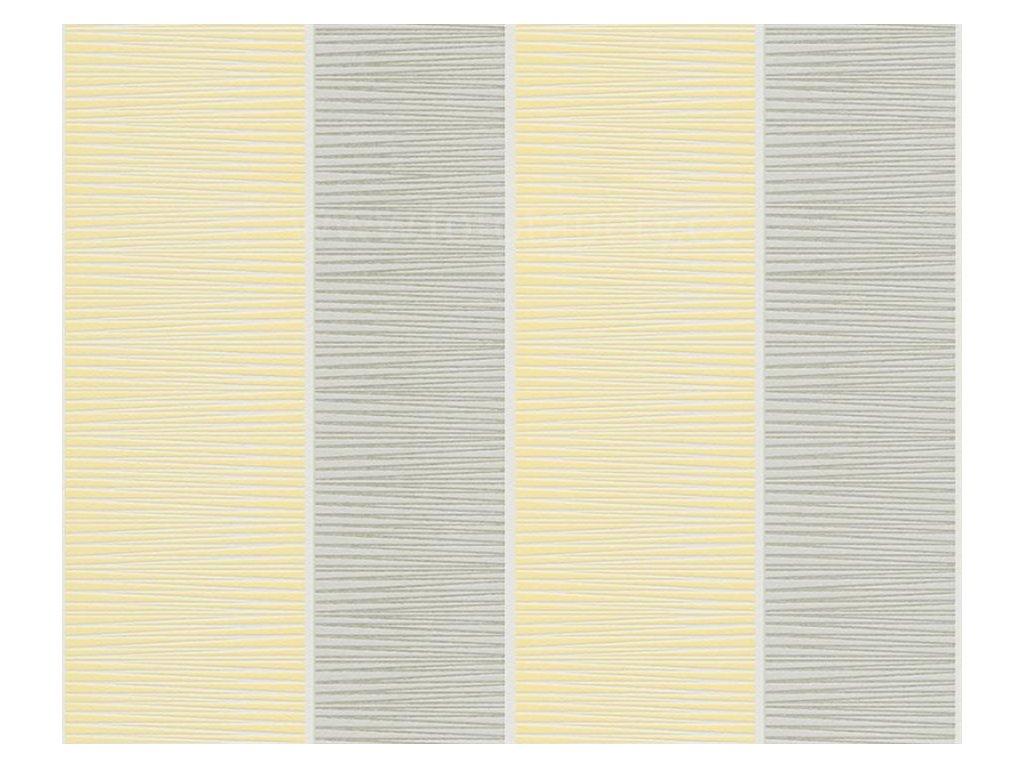 Vliesová tapeta na zeď Schöner Wohnen 9, 0,53x10,05m, 3245-52 - žluto šedé pruhy