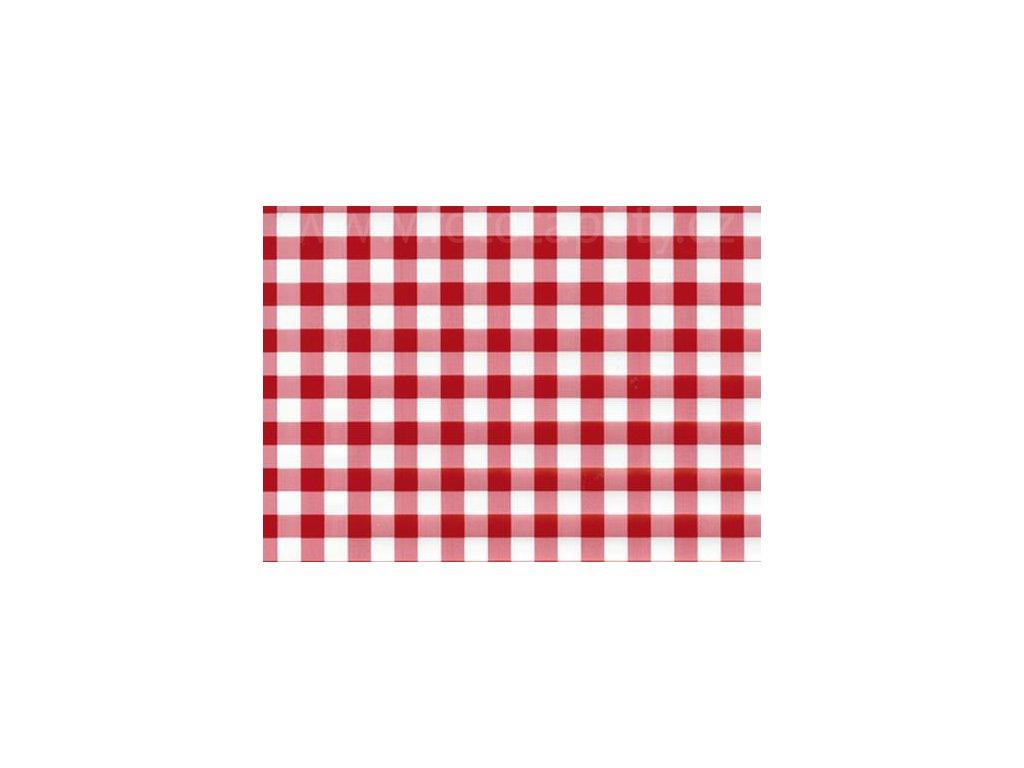 Samolepící fólie imitace Decor, Kostkovaný ubrus červený