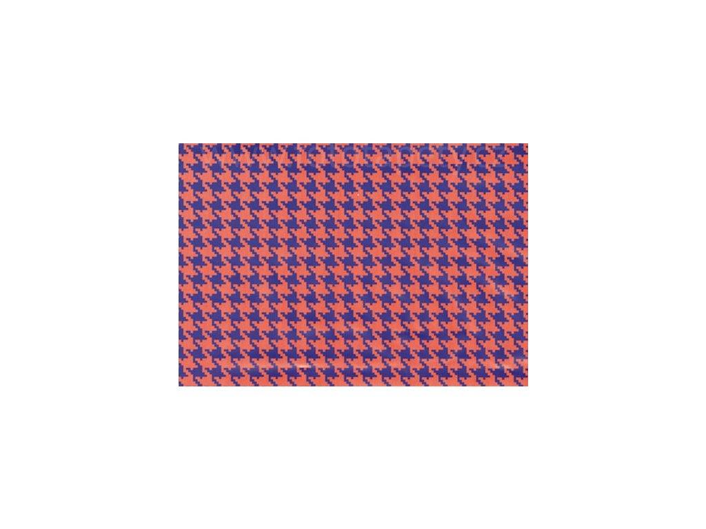 Samolepící fólie imitace Decor, Kohoutí stopa fialová
