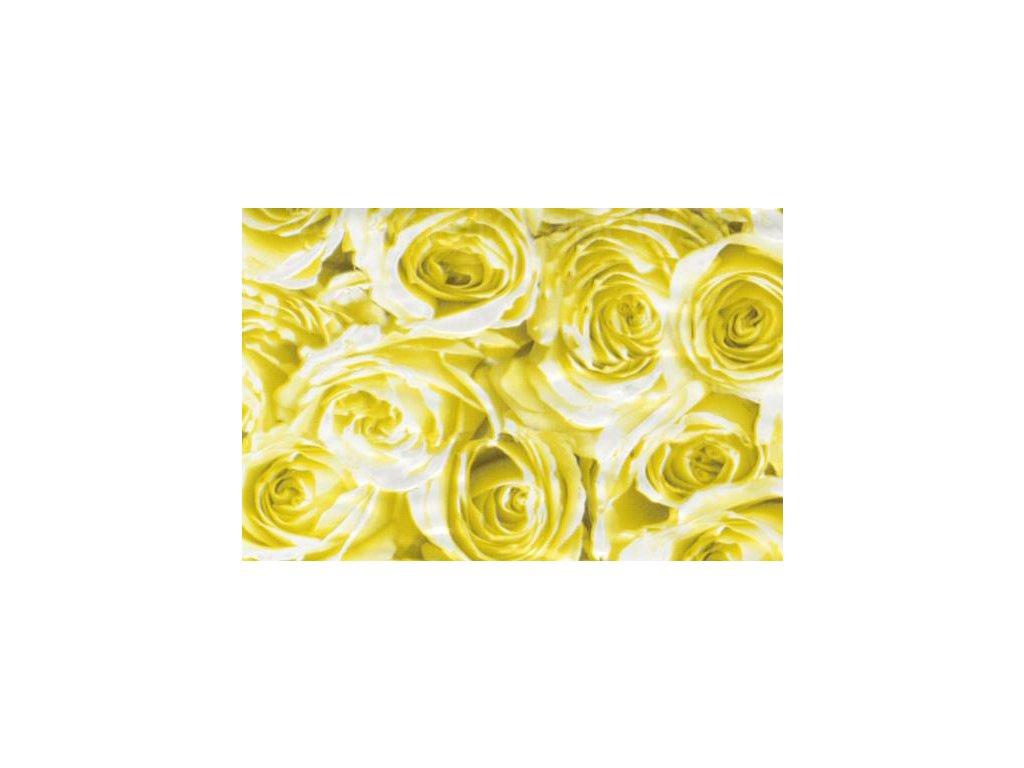 Samolepící fólie imitace Decor, Žluté růže, doprodej !!!