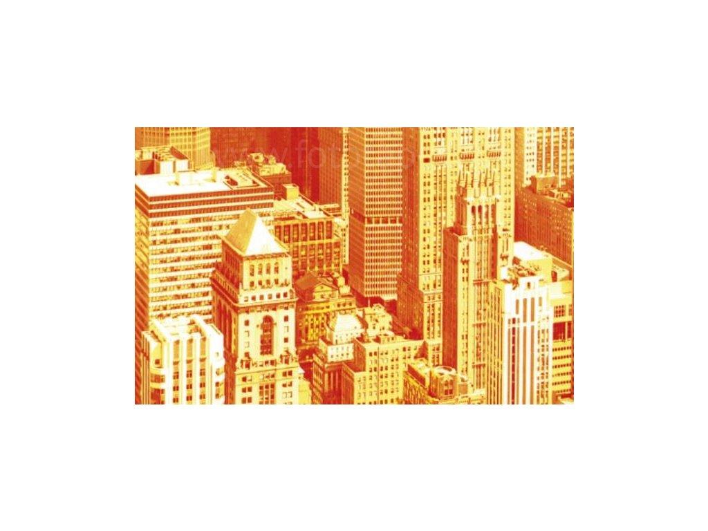 Samolepící fólie imitace Decor, Urban sky - oranžové město