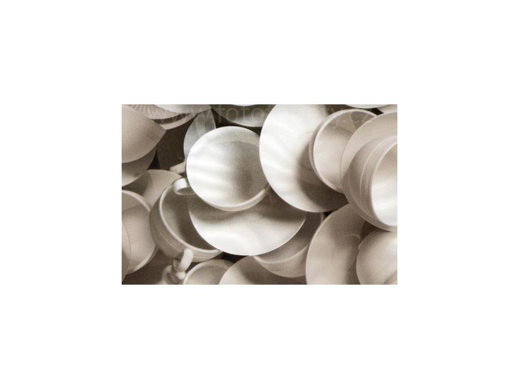 Samolepící fólie imitace Decor, Bílé šálky