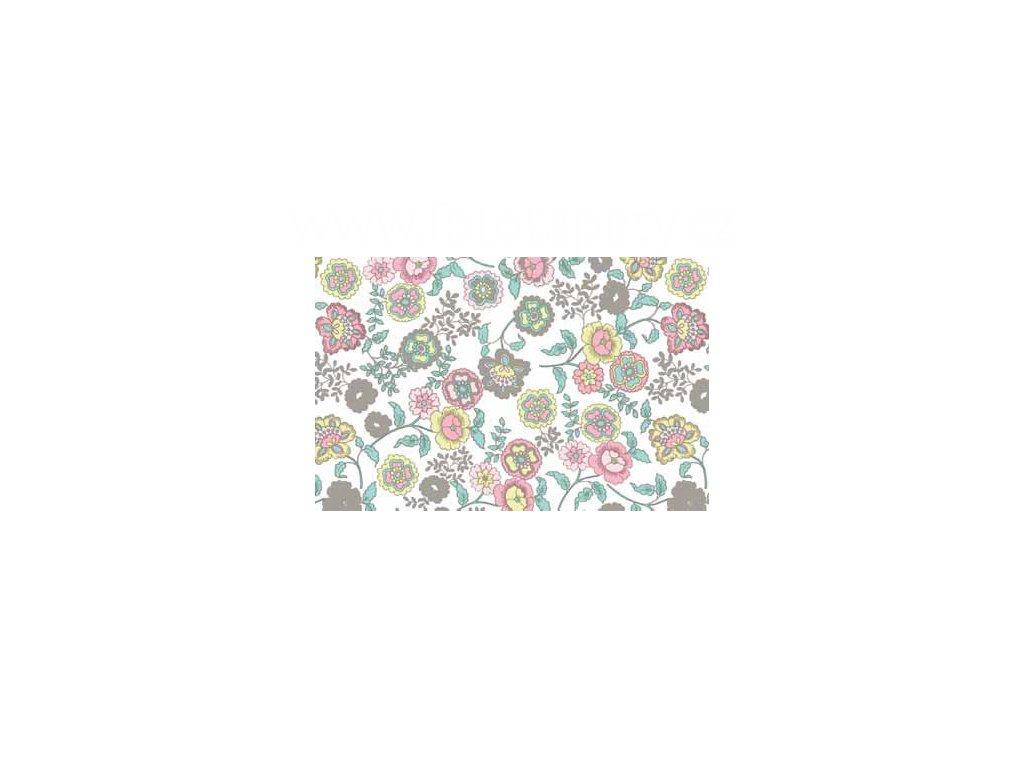 Samolepící fólie imitace Decor, Světle růžové květiny