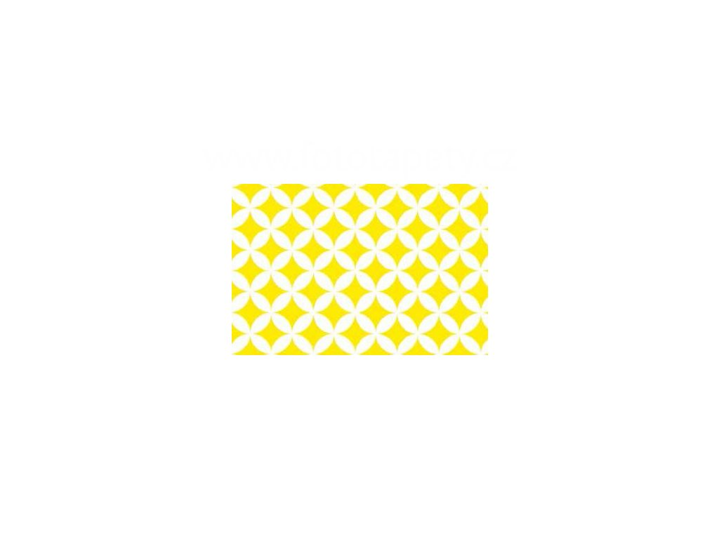 Samolepící fólie imitace Decor, Elliot žlutá