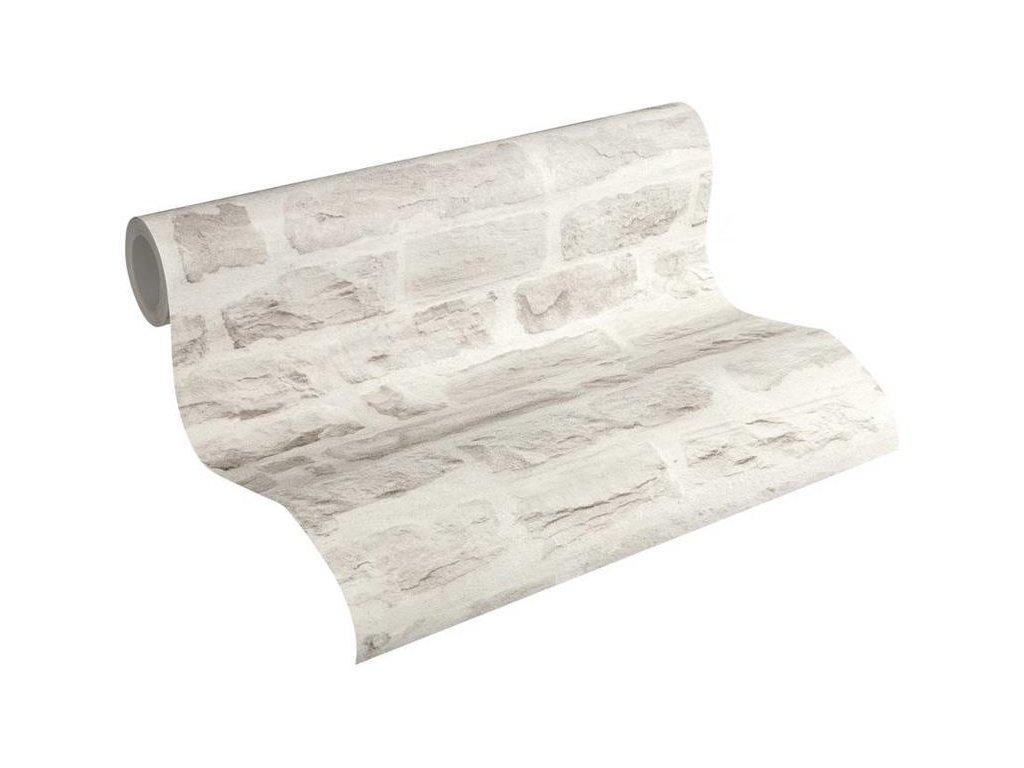 Vliesová tapeta na zeď Best of Wood & Stone 2, 0,53x10,05m, 3558-04 - kamenná zeď