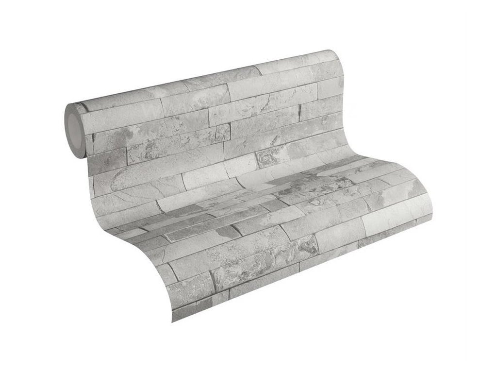 Vliesová tapeta na zeď Best of Wood & Stone 2, 0,53x10,05m, 3558-21- břidlicový obklad