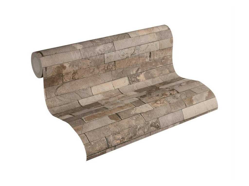 Vliesová tapeta na zeď Best of Wood & Stone 2, 0,53x10,05m, 3558-22- břidlicový obklad