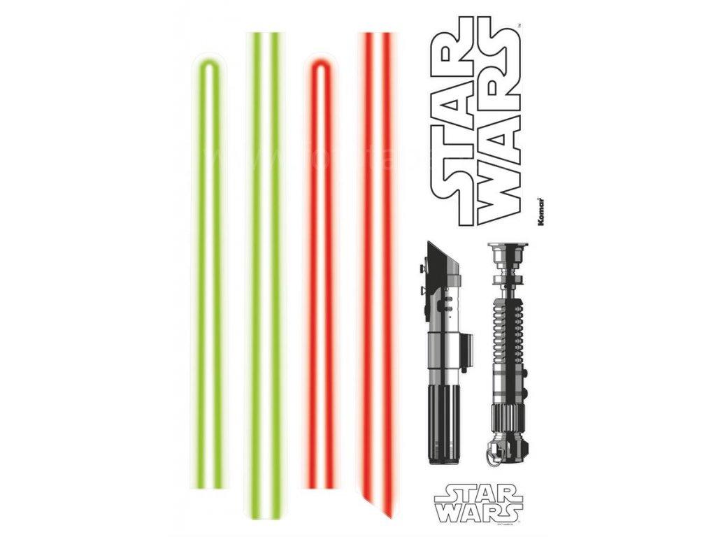 Samolepky na zeď Star Wars - Světelné meče, 50x70cm