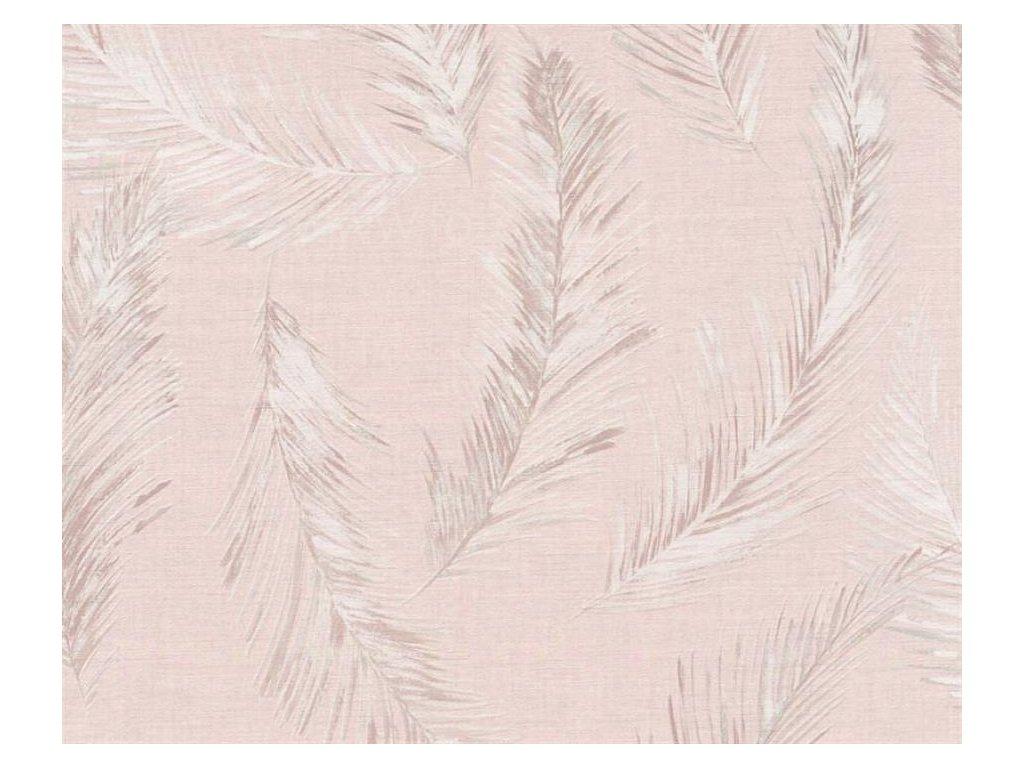 Vliesová tapeta Four Seasons, 0,53x10,05m, 3589-62 - šedo růžové listy