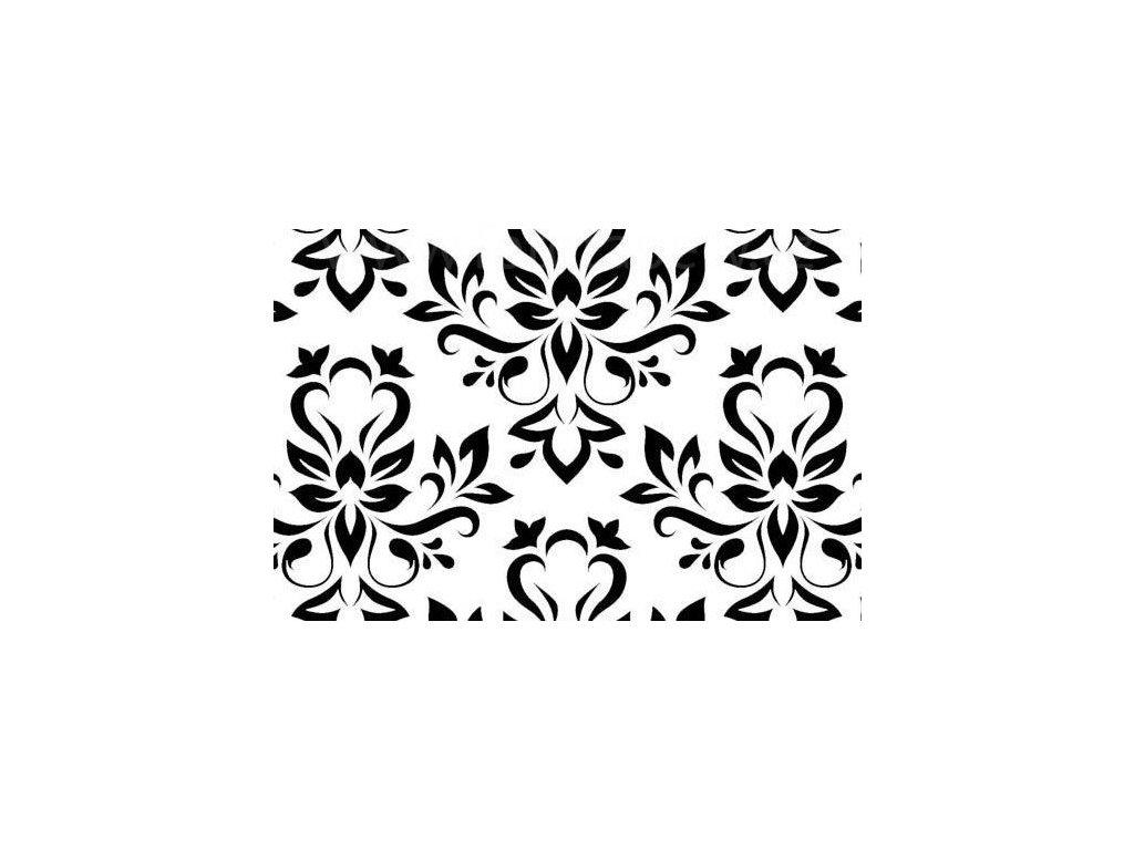 Samolepící fólie imitace Decor, Černobílé květy