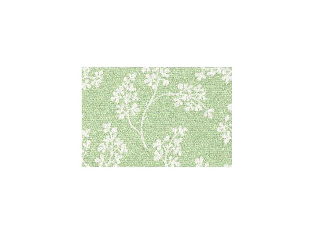 Samolepící fólie imitace Decor, Zelené květy