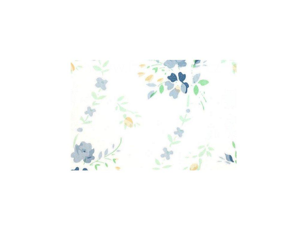 Samolepící fólie imitace Decor, Květiny modré
