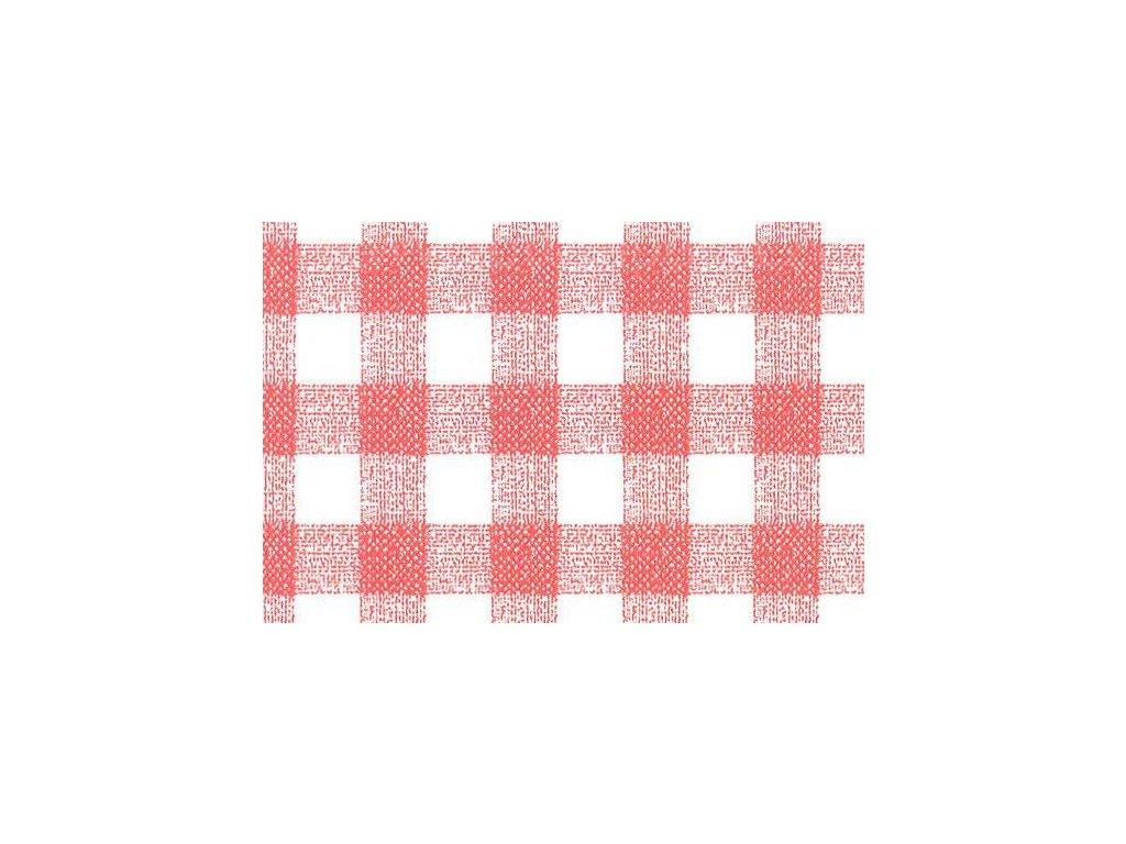 Samolepící fólie imitace Decor, Červeno bílé kostky