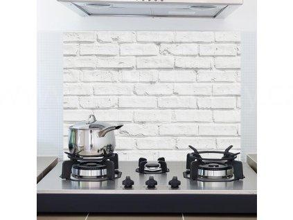 Samolepka do kuchyně - Bílá cihlová zeď (47x65cm)