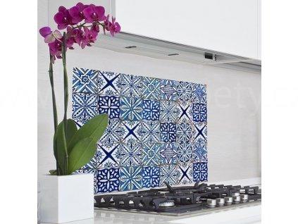 Samolepka do kuchyně - Modré kachličky (47x65cm)