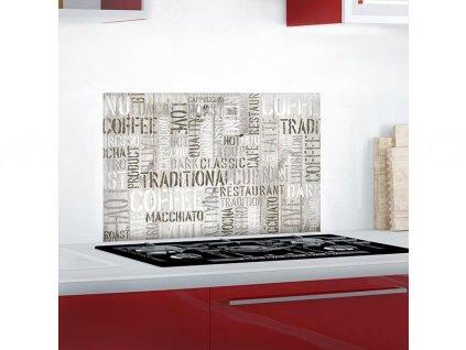 Hliníková samolepka do kuchyně - Coffee (47x65cm), 67250