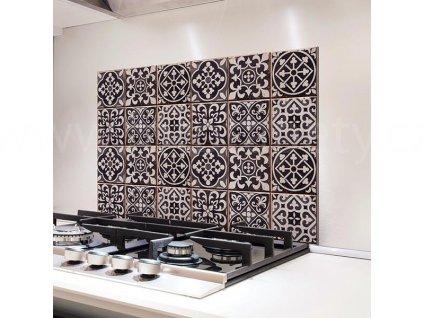Hliníková samolepka do kuchyně - Kachličky Azulejos (47x65cm), 67273