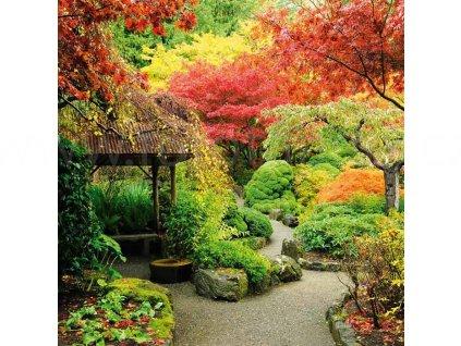 Samolepící fototapeta na podlahu - Japonská zahrada, 170x170cm, 026