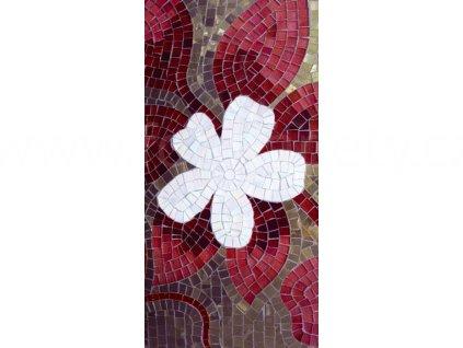 Samolepící fototapeta na podlahu - Červeno fialová mozaika, 85x170cm, 014