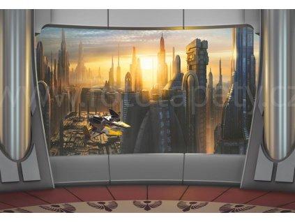 Star wars - Coruscant view, dětská fototapeta osmidílná, 368x254 cm, 8D 8-483