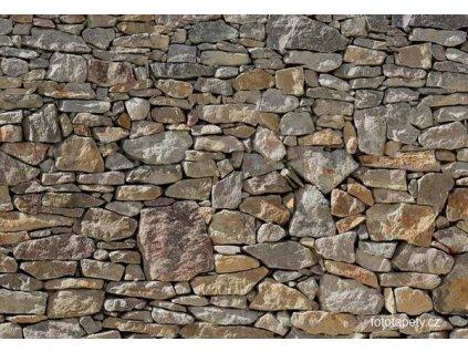 Osmidílná obrazová tapeta Stone wall, 368x254cm, 8D 8-727