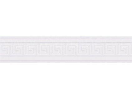 Vinylová bordura Only borders 10 - Bílá geometrie, 13cmx5m, 9364-71