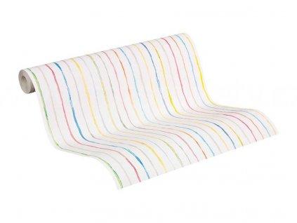 Papírová tapeta na zeď Esprit Kids 5, 0,53x10,05m, 9413-51 - barevné proužky
