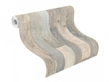 Vliesová tapeta na zeď Rasch - Factory III, 0,53x10,05m, 941623 - šedé dřevěné desky