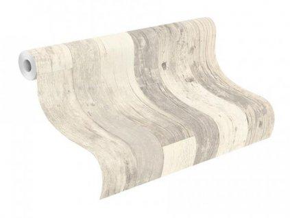 Vliesová tapeta na zeď Rasch - Factory III, 0,53x10,05m, 941647- šedé dřevěné desky