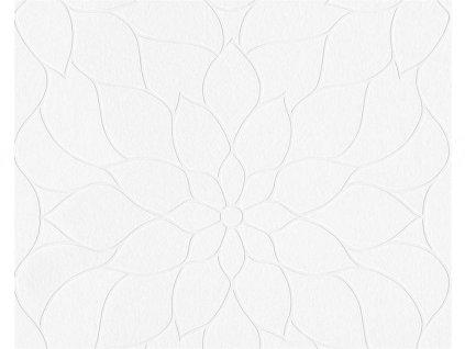 Přetíratelná vliesová tapeta na zeď Meistervlies 2020, 0,53x10,05m, 9507-10 - květy