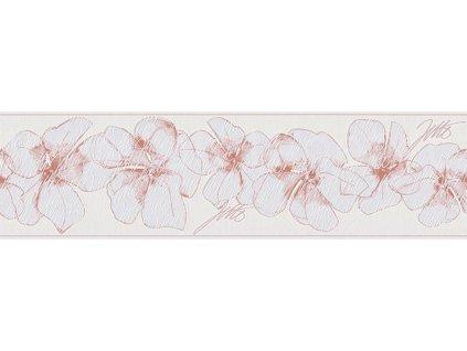 Vliesová bordura Only borders 9, 17cmx5m, 9599-11 - růžové květy