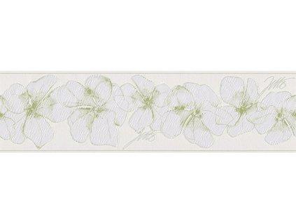 Vliesová bordura Only borders 9, 17cmx5m, 9599-12 - Zelené květy