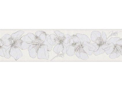 Vliesová bordura Only borders 9, 17cmx5m, 9599-13 - Zelené květy