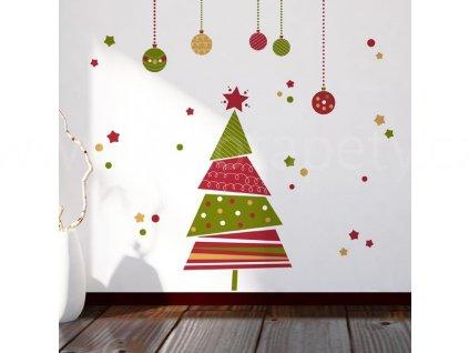 Vánoční samolepící dekorace Vánoční strom, 22x67cm, skladem poslední 1ks!!
