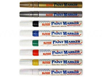 Popisovač ALTECO Paint Marker, skvělý popisovač, vodostálý, do exterieru, drží na všem