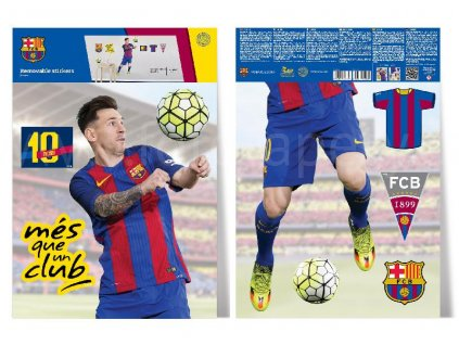 Samolepky na zeď FC Barcelona - Lionel Messi, 29,7x42 cm