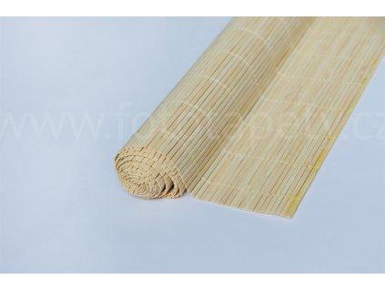 Bambusová rohož - broušený bambus světlý