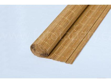 Bambusová rohož - broušený bambus tmavý