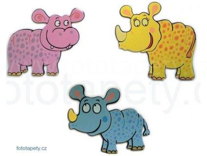 Pěnové figurky Nosorožci a hroch