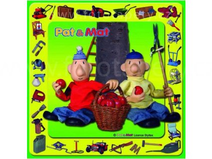 Korková dětská podložka - Pat a Mat - rozměr 25x25 cm