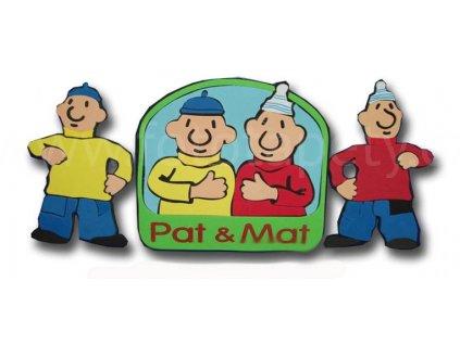 Pěnové figurky Pat a Mat, rozměr 25 x 30 cm
