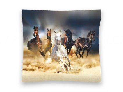Dekorační foto polštářek Koně, 45x45cm, CN3602