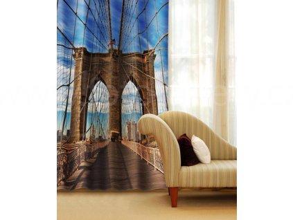 Foto závěs Brooklynský most, 140x245cm
