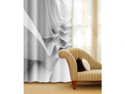 Foto závěs Bílá abstrakce, 140x245cm