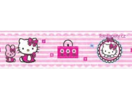 Dětská samolepící bordura - Hello Kitty - šíře 15,9 cm x 5 m,skladem poslední 2ks!!