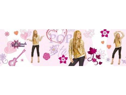 Dětská samolepící bordura - Hannah Montana- šíře 15,9 cm x 5 m, poslední 1ks !!!