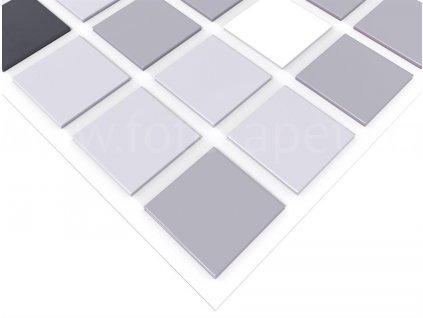 3D vinylový omyvatelný obkladový panel - Mozaika šedá, 93,5x46,9cm, D0018