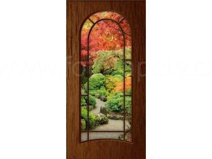 Samolepící fototapeta na dveře - Japonská zahrada, 95x210 cm, D018