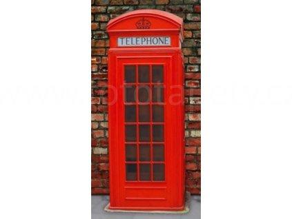Samolepící fototapeta na dveře - Britské telefonní budky, 95x210 cm, D020