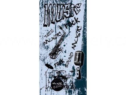 Samolepící fototapeta na dveře - Hudba, 95x210 cm, D048